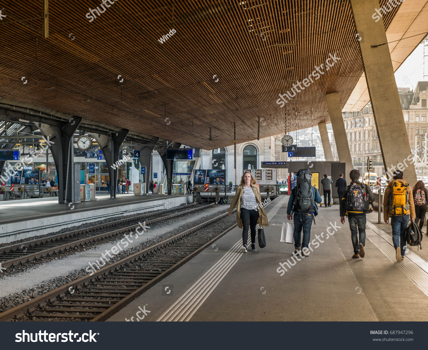 Notebook Station Leipzig Zurich Switzerland May 2016 Zurich Central Stock Photo Edit Now