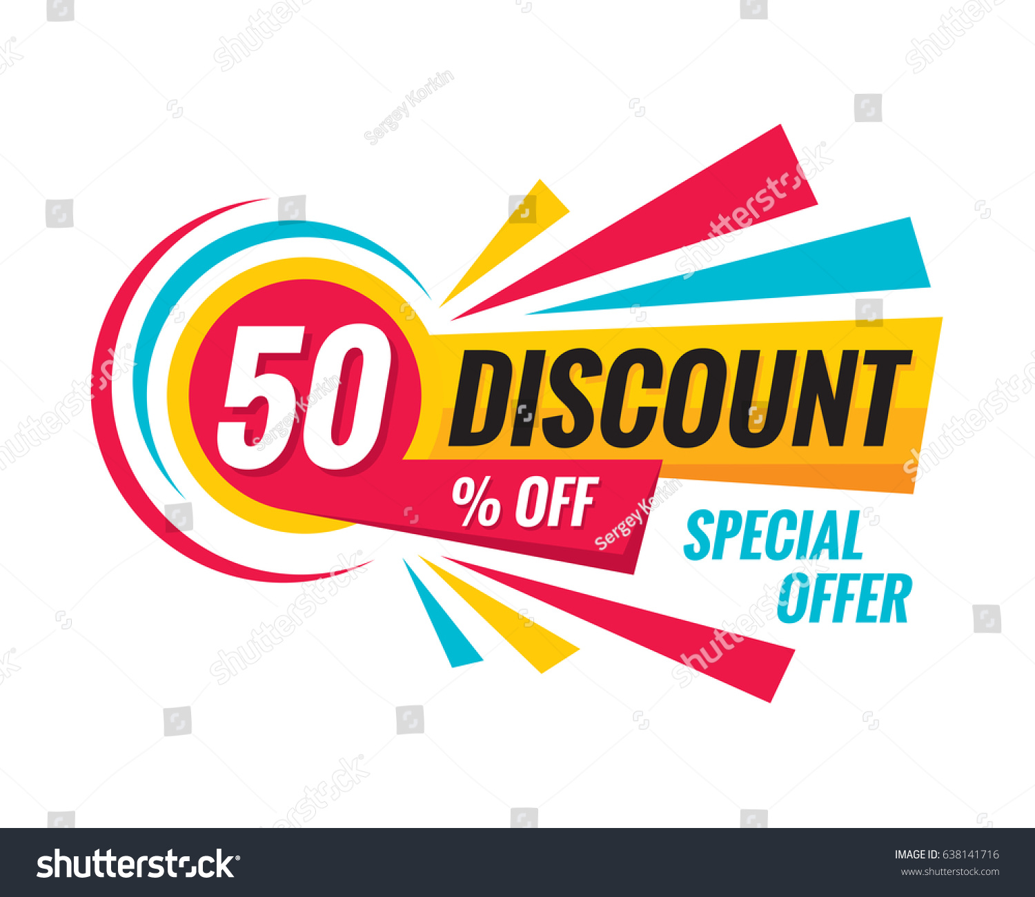 Store Banne Promotion 50 Off Discount Creative Vector Banner Stock Vector