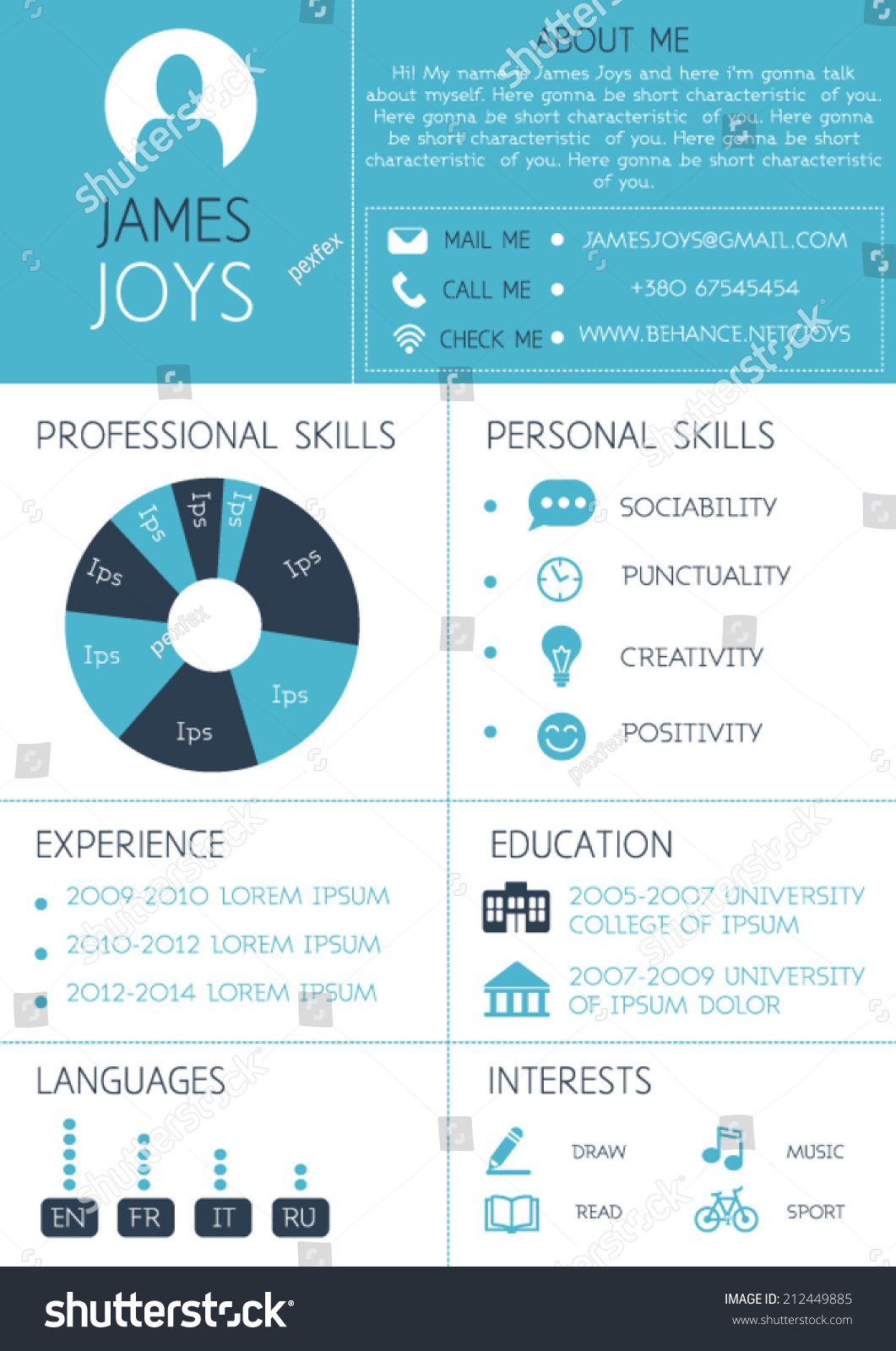 infographic resume free template download