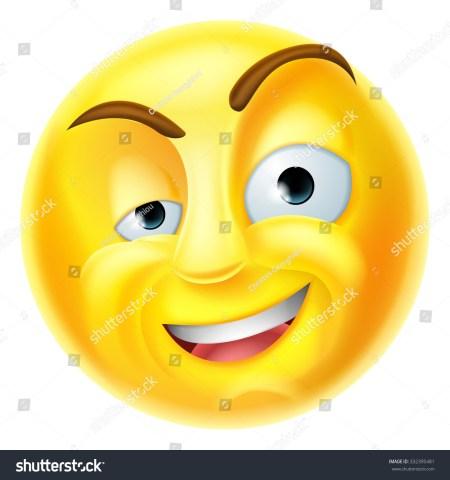 Raised Eyebrow Smiley Symbol