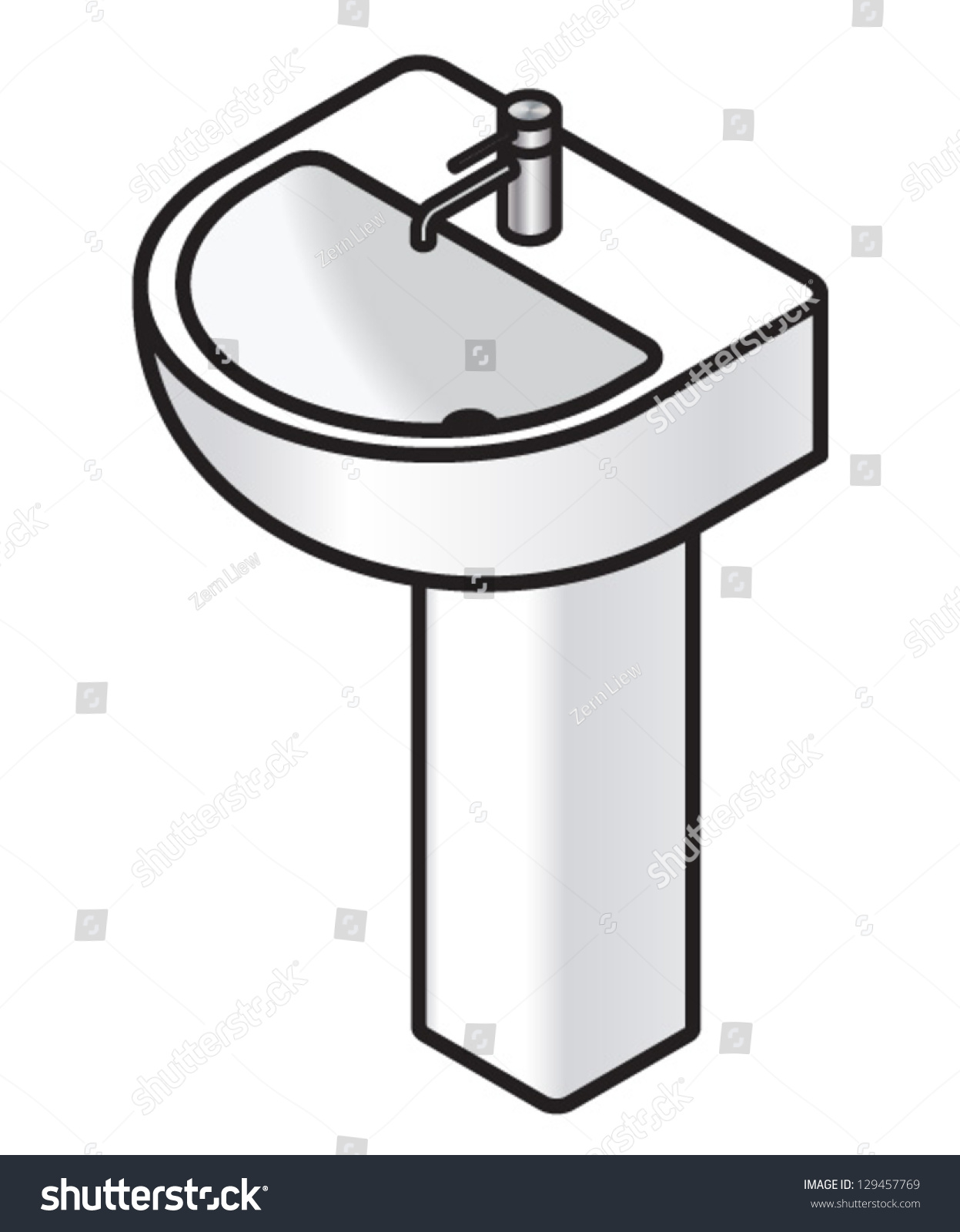 Clean bathroom sink clip art - Bathroom Sink Clip Art