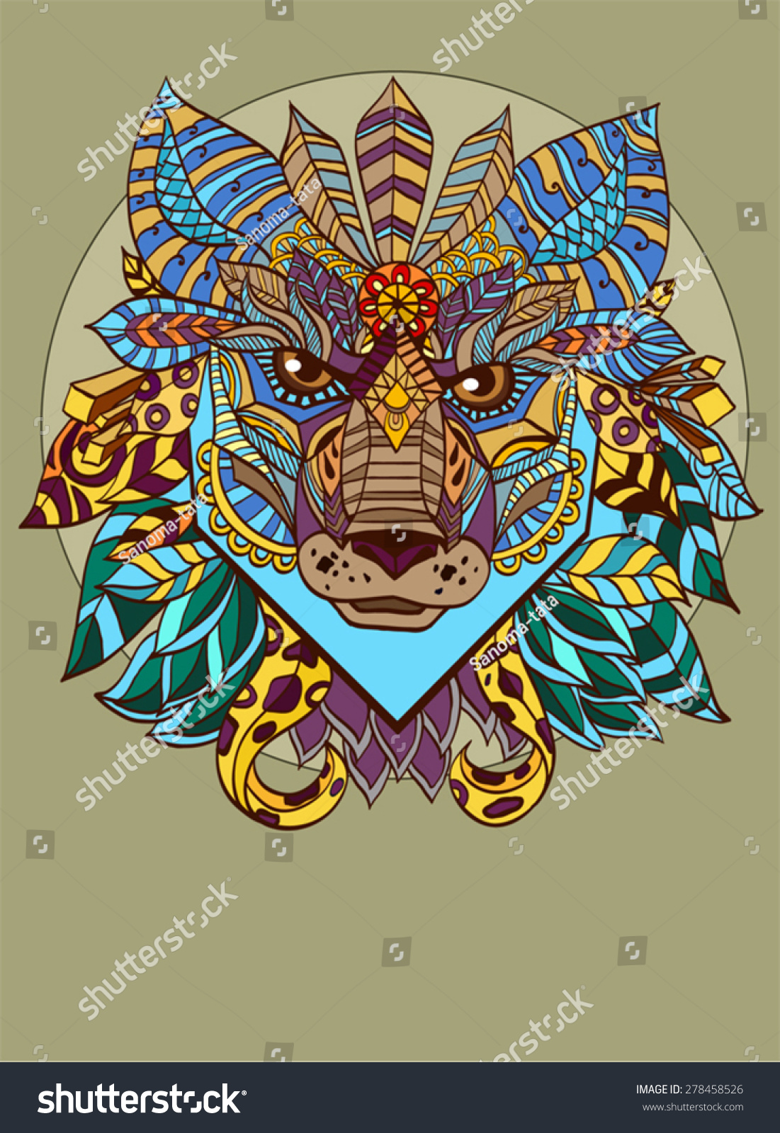 Abstract Fox Art Abstract Fox Head Stock Vector 278458526 Shutterstock