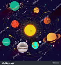 Abstract Universe Wallpaper Flat Design Style Stock Vector ...