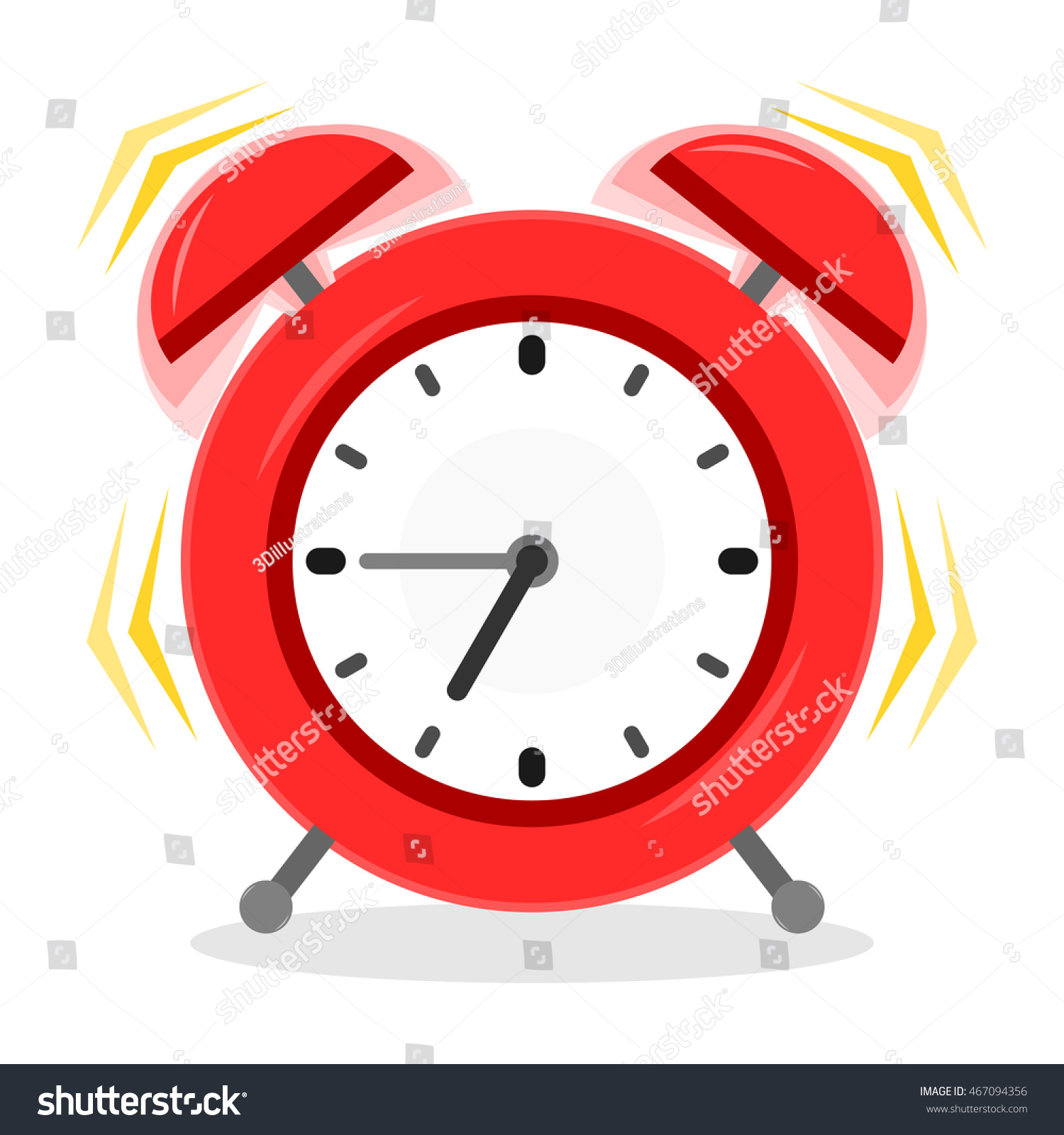 Special Clock Alarm Clock Ringing Red Alarm Special Stock Vector Royalty Free