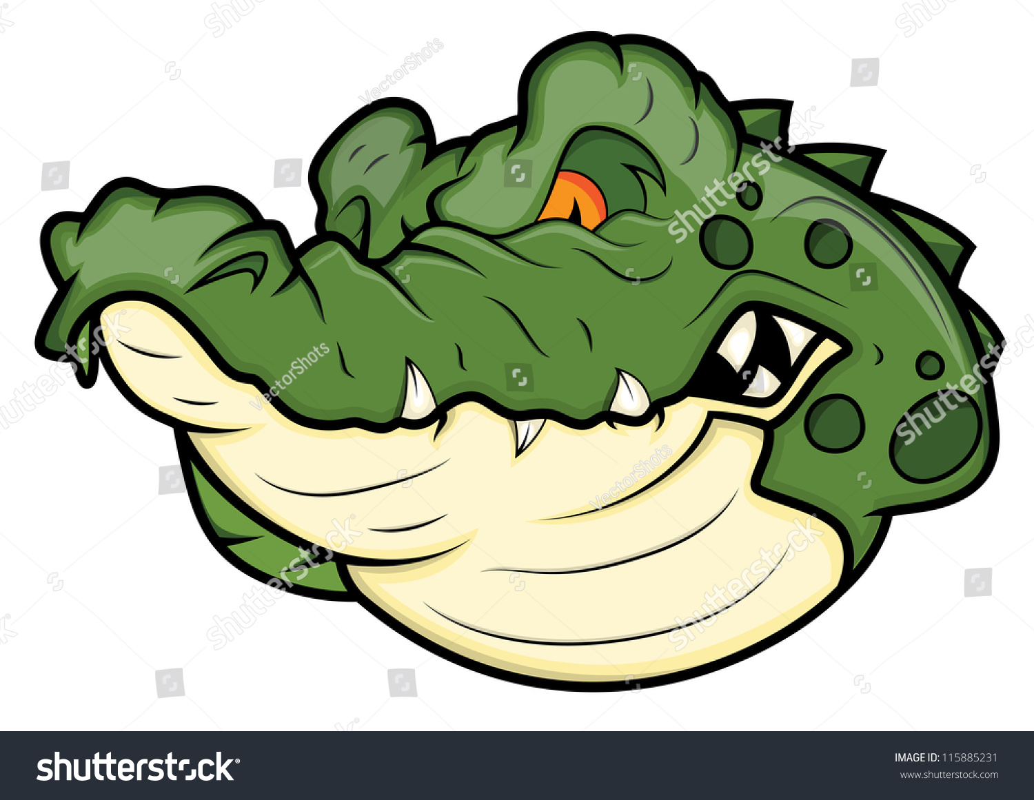 Alligator Clip Symbol Angry Alligator Vector Mascot Stock Vector 115885231