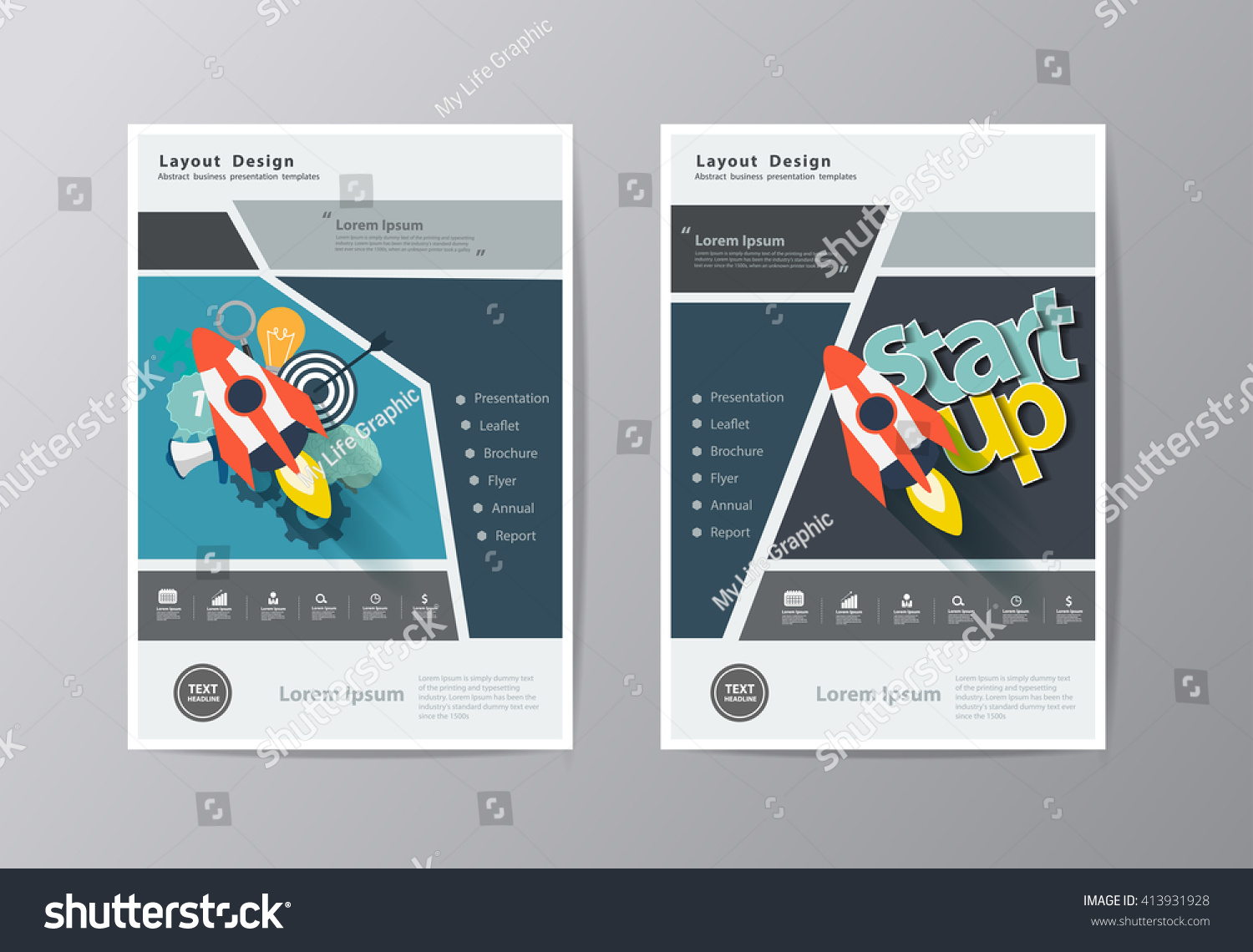 Flyer Ideas Annual Report Leaflet Brochure Flyer Template Stock Vector