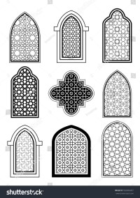 Arabic Islamic Traditional Architecture Set Window Stock ...