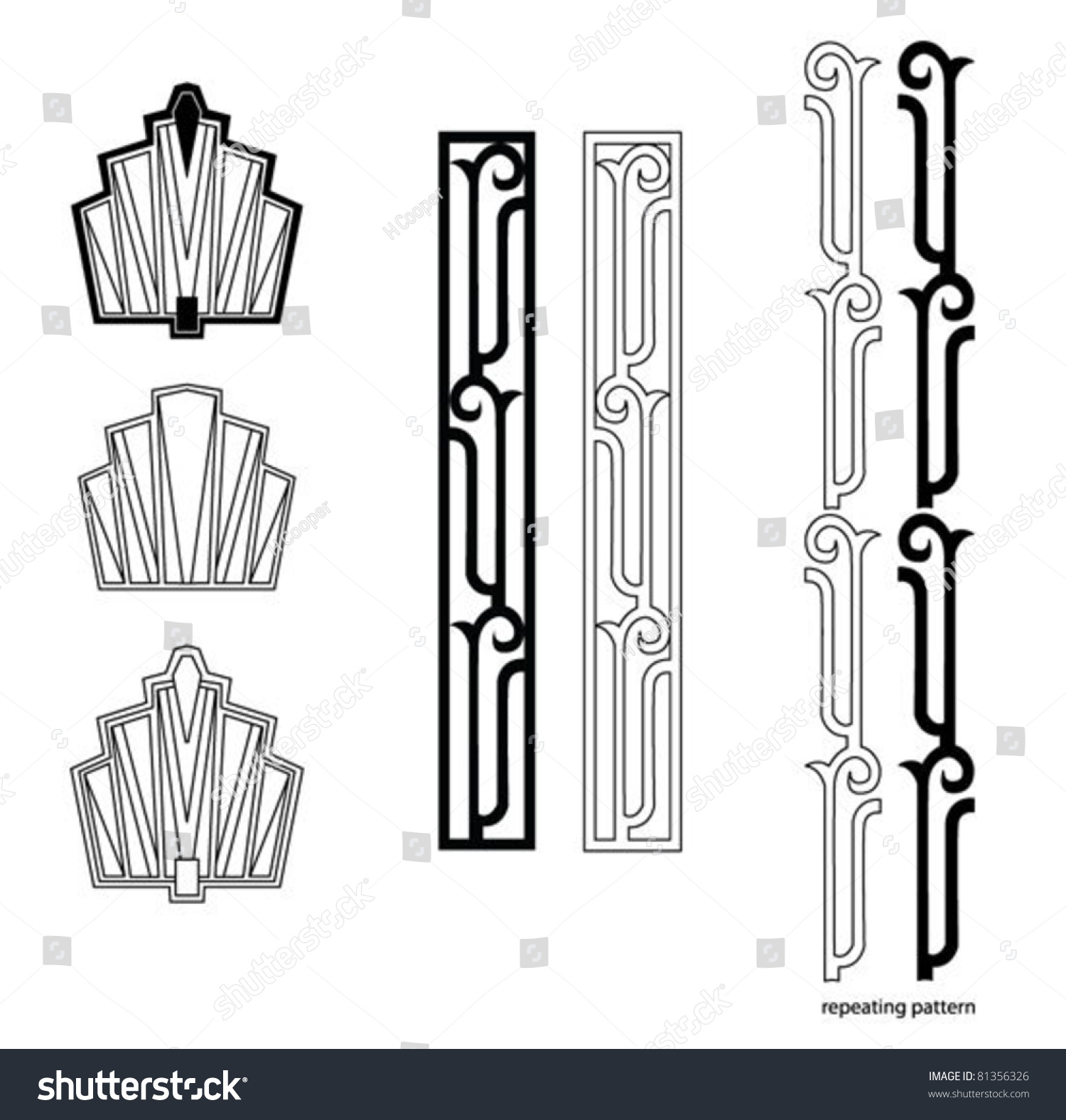 Designer Deko Art Deco Design Elements Stock Vector 81356326 Shutterstock