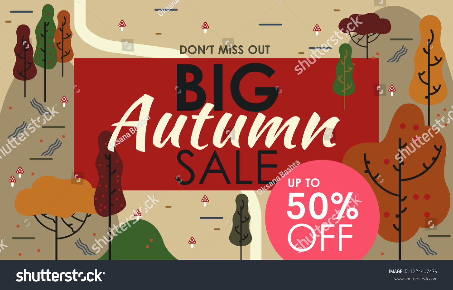 Calligraphy Templates Online Autumn Sale Banners Ads Web Templates Stock Vector Royalty Free
