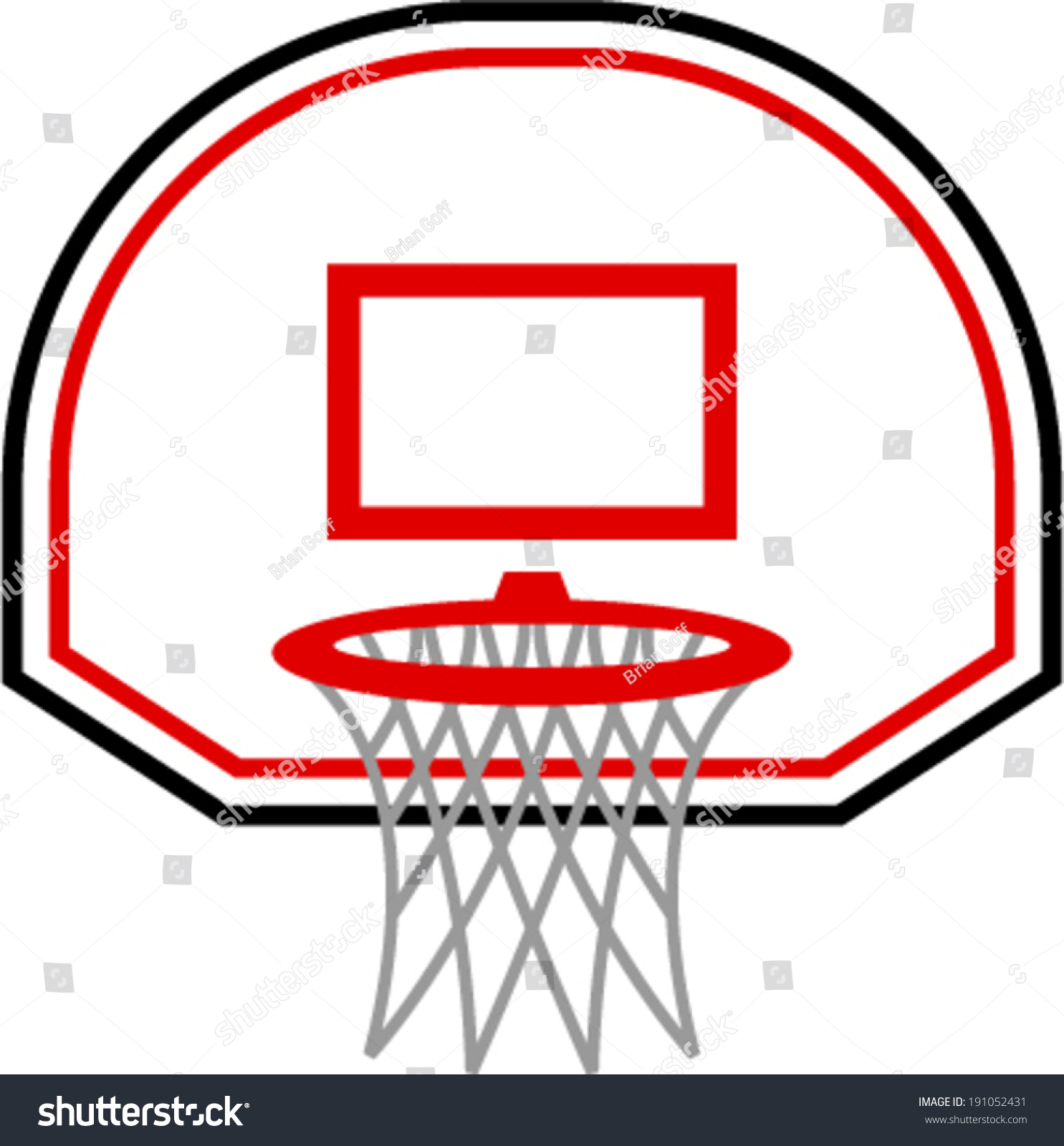 Basketball Ring Target Basketball Hoop Vector Icon Illustration Stock Vector