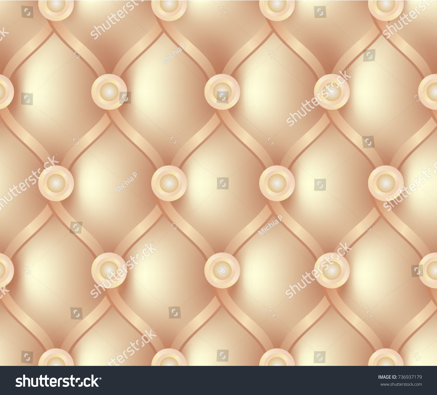 Sofa Texture Vector Beige Expensive Sofa Texture Seamless Background Stock Vector