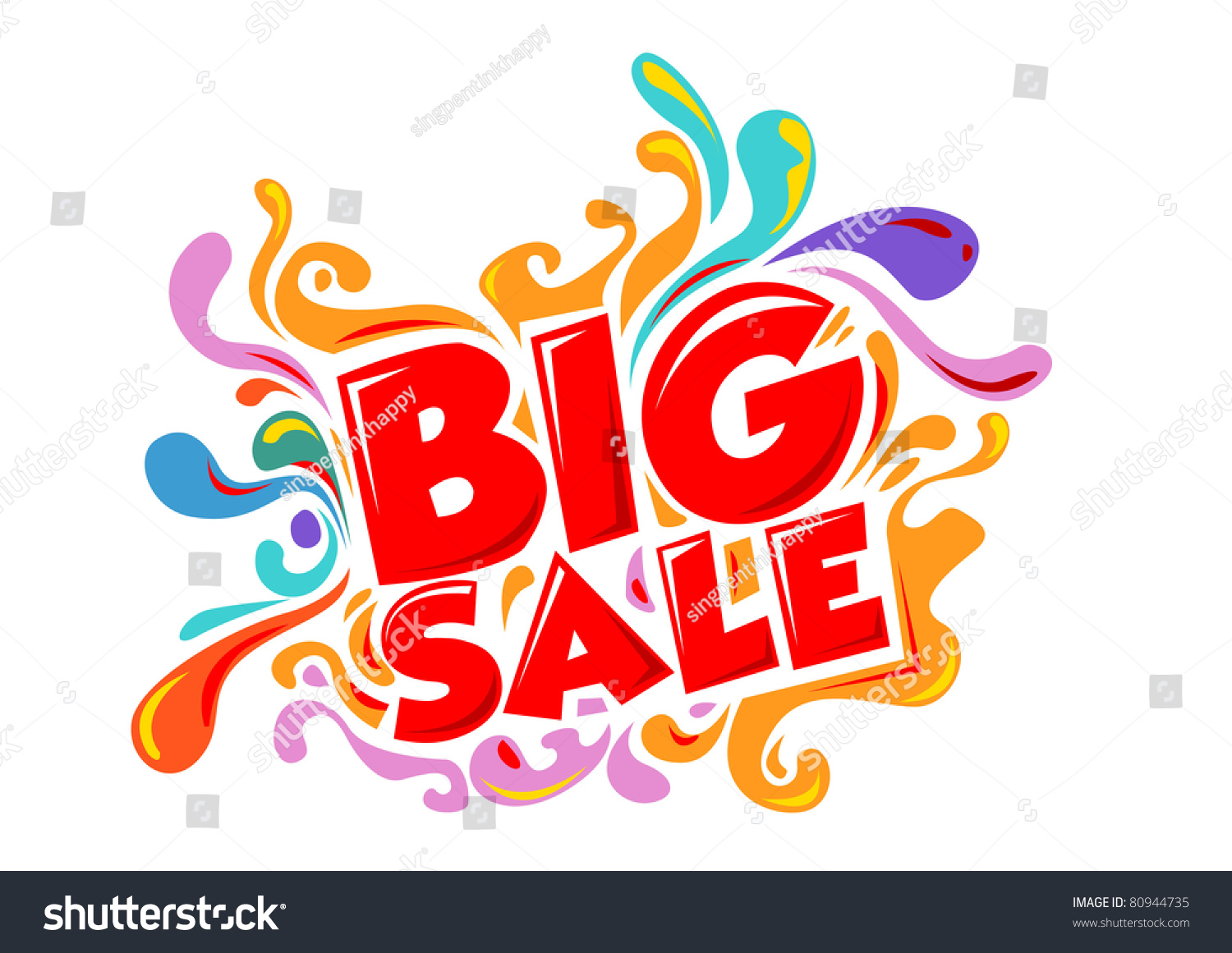 Store Banne Promotion Big Sale Promo Department Store Stock Vector 80944735
