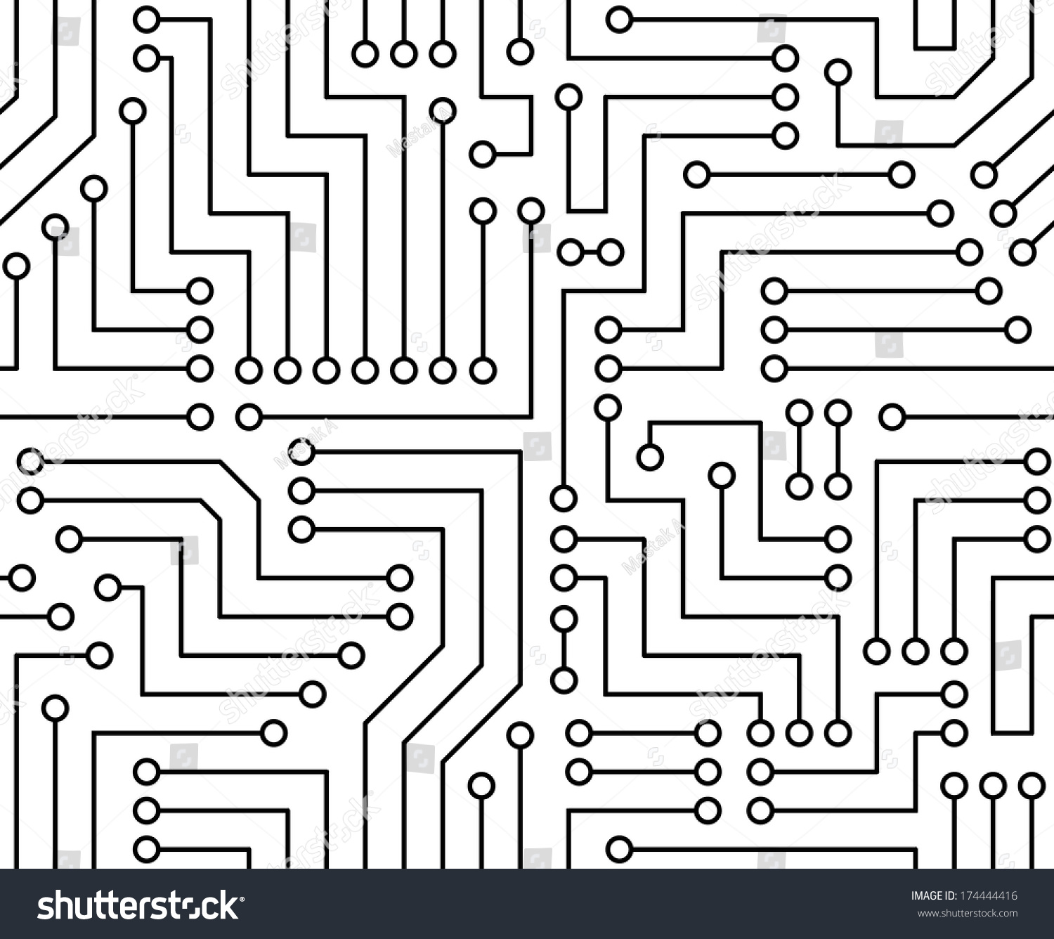 Printed Monochrome Industrial Circuit Board Background Auto Royalty Free Stock Image 24974606 Black White Seamless Vector
