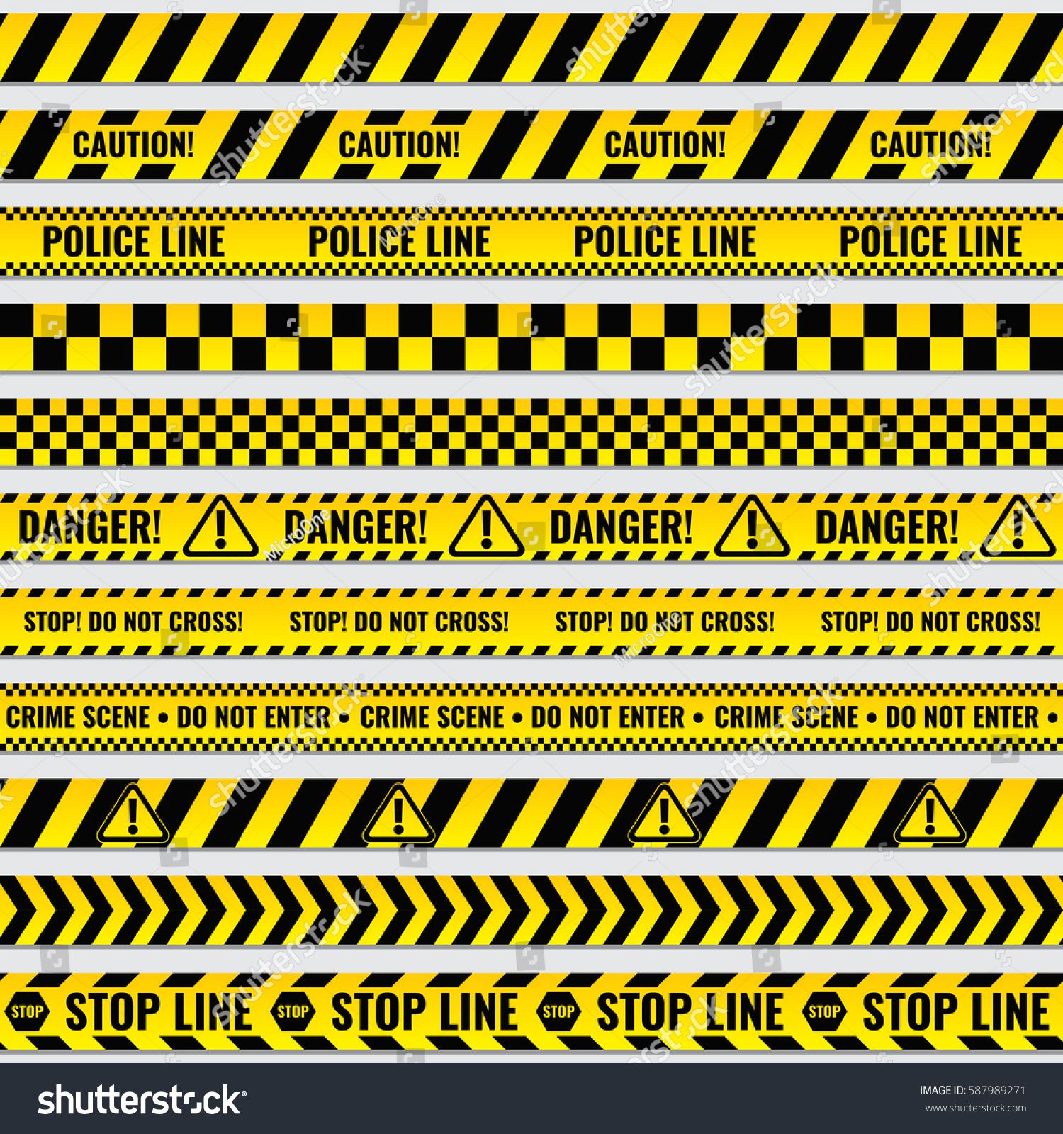 Border frame with black and yellow stripe on white background - Border Frame With Black And Yellow Stripe On White Background Black And Yellow Police Stripe Download