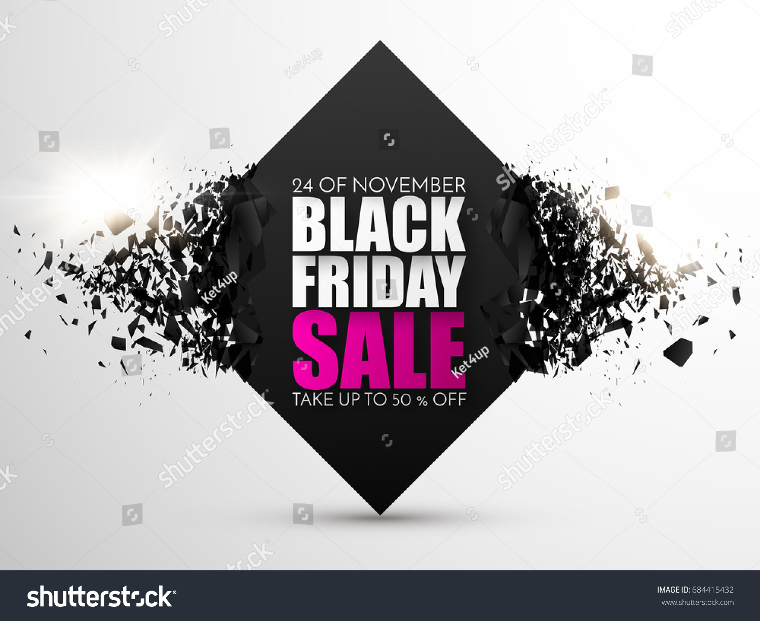 Black Sale Black Friday Sale Abstract Background Vector Stok Vektör Telifsiz