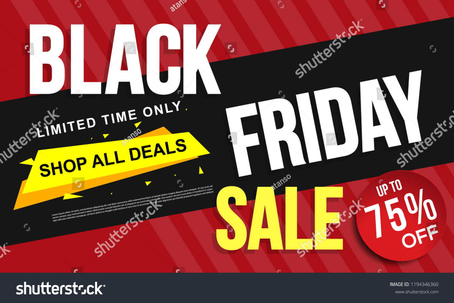Black Sale Black Friday Sale Banner Layout Design Stok Vektör Telifsiz
