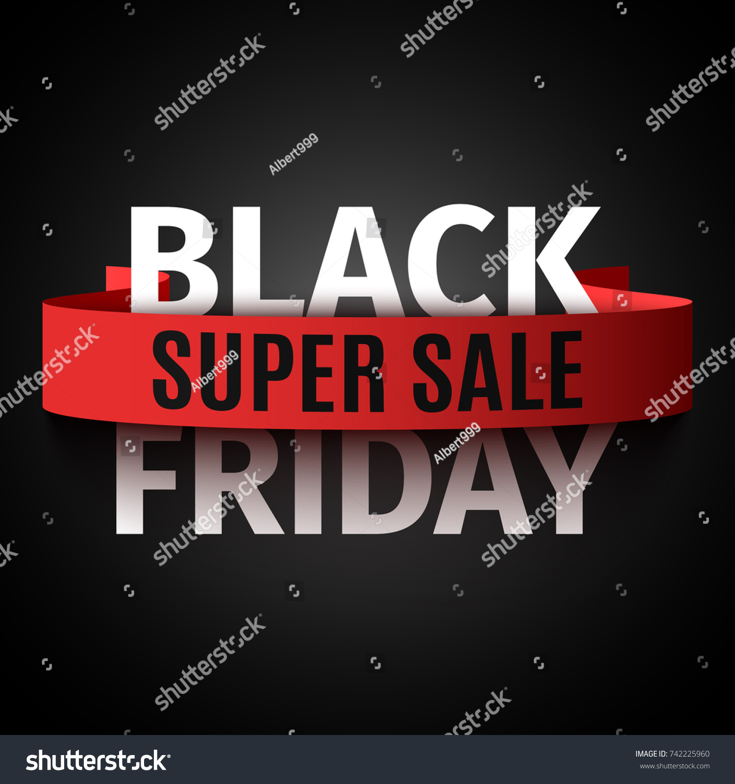 Black Sale Black Friday Sale Banner Vector Illustration Stok Vektör Telifsiz