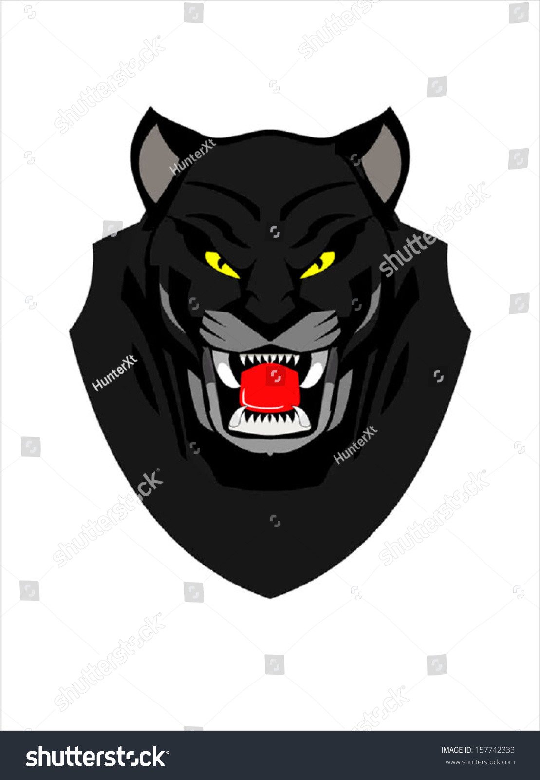 Cute Jumping Spider Wallpaper Panther Face Vector