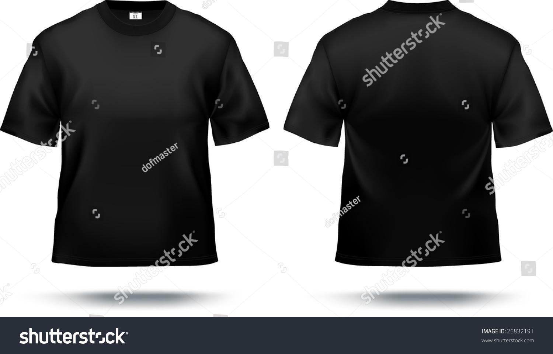 Black t shirt printing -  Black T Shirt Design Template Front Back Contains Gradient Mesh Elements Download