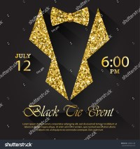 Black Tie Event Invitation Vector Illustration Stock ...