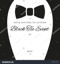 Black Tie Event Invite, Template, Vector