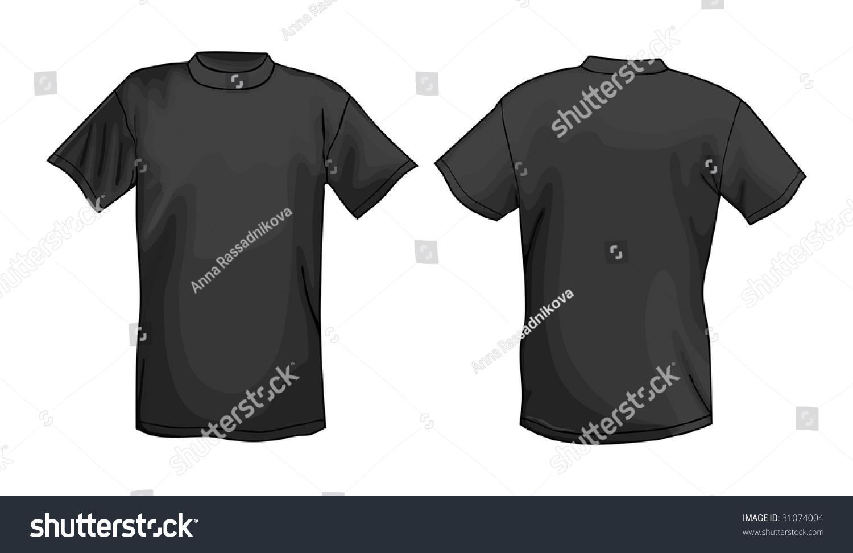 Black T Shirt For Design
