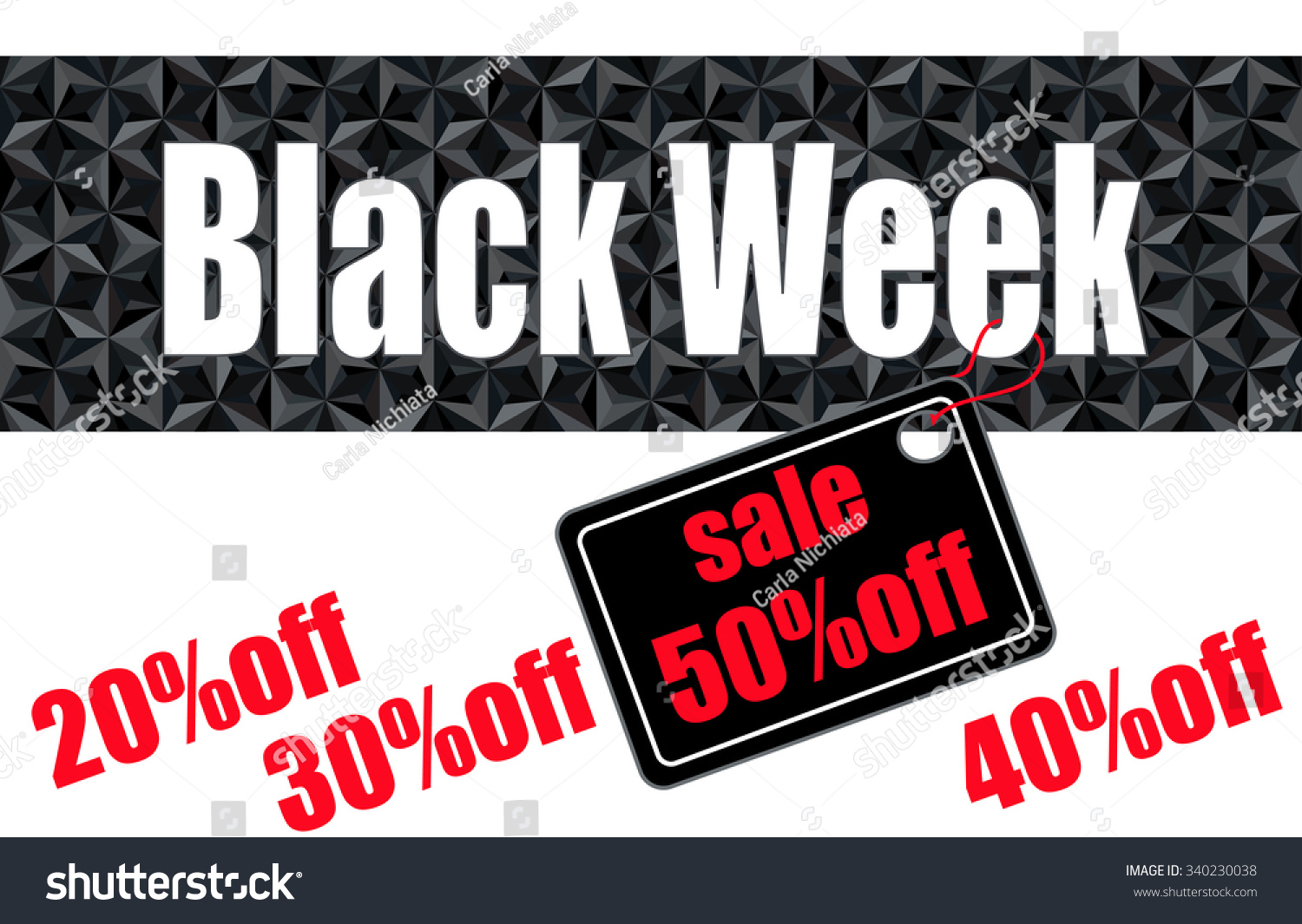 Black Week Sale Black Week Sale Header Template On Stock Vector Royalty Free