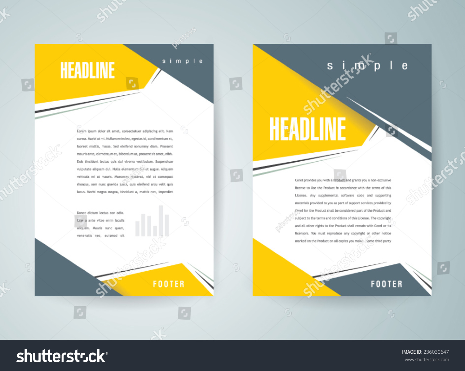 Sample Business Profile 5 Documents In Pdf Brochure Design Template Vector Flyer Action Stock Vector