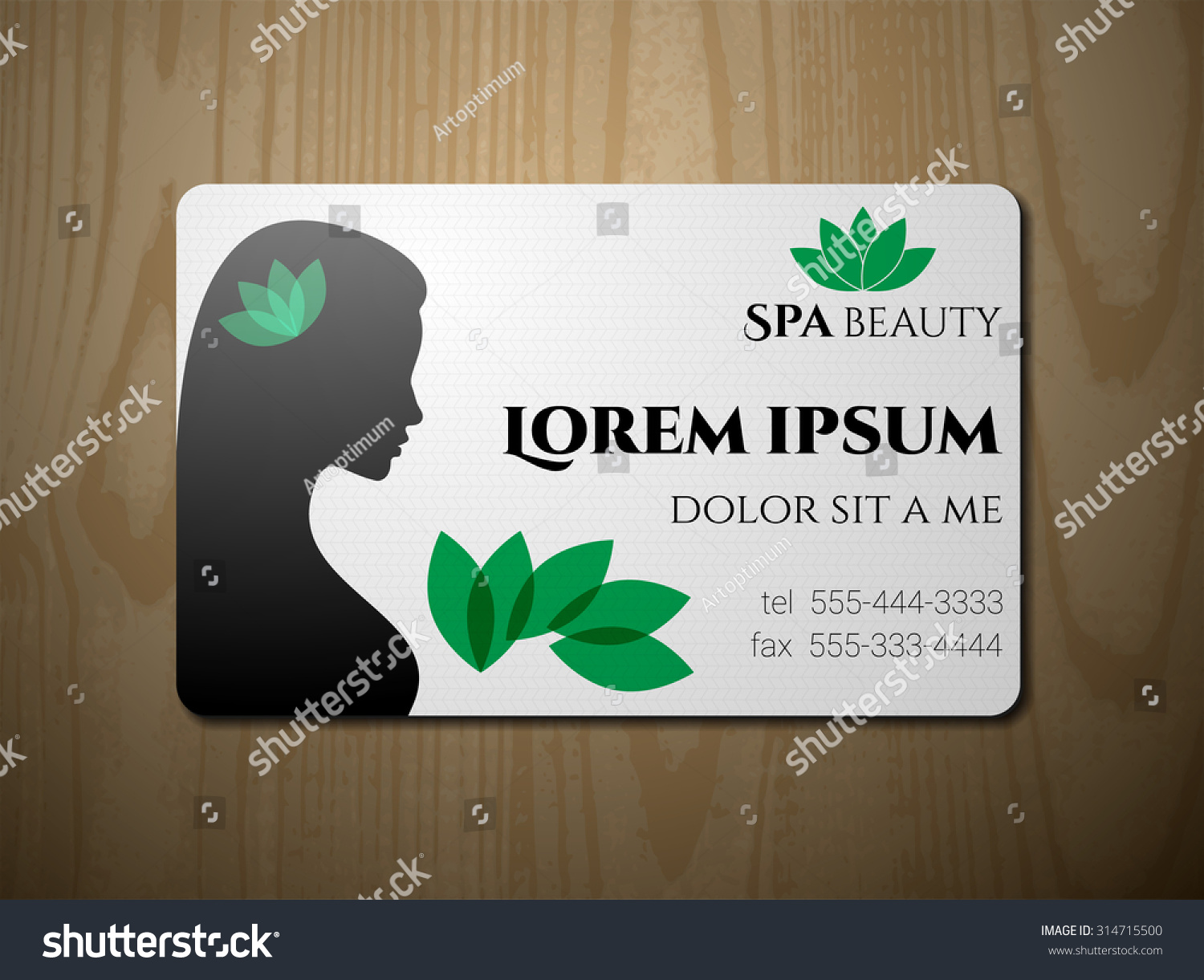Arte Salon And Spa Business Card Spa Salon Stock Vector Royalty Free 314715500