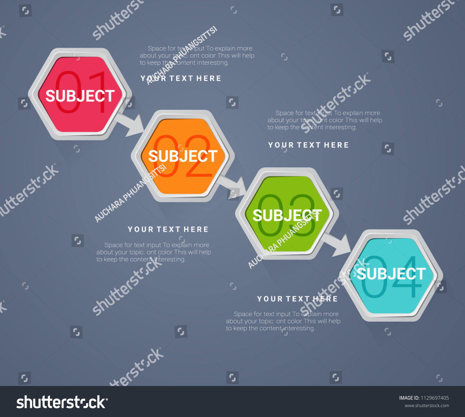 Business Step Business Infographics Timeline 4 Steps Labels Stock Vector