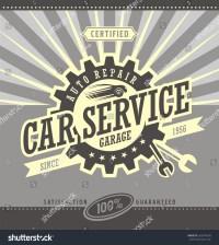 Car Service Retro Banner Design Concept. Vintage Garage ...