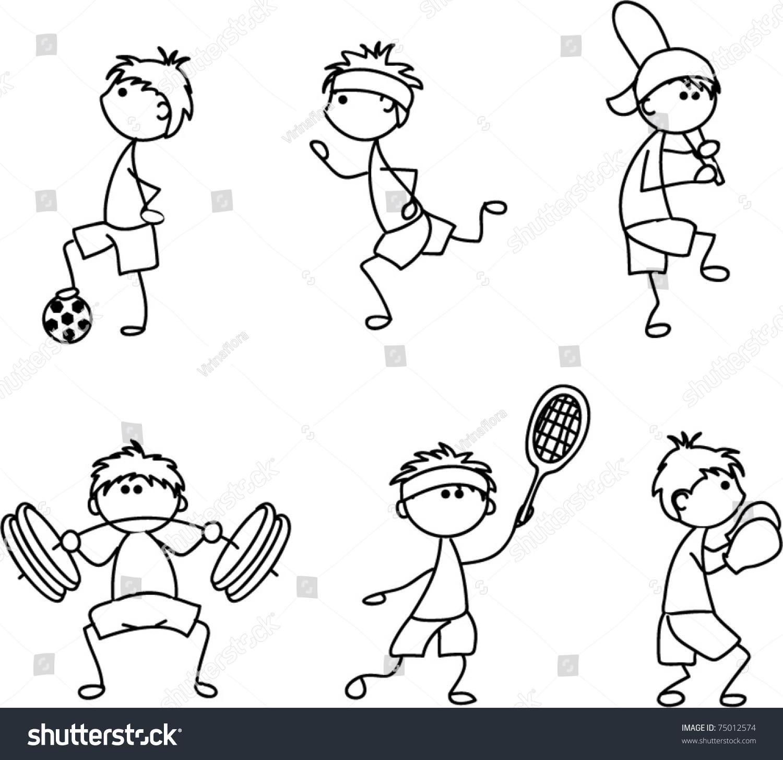 Girl Skate Logo Wallpaper Cartoon Sport Icon Children Drawing Stock Vector 75012574