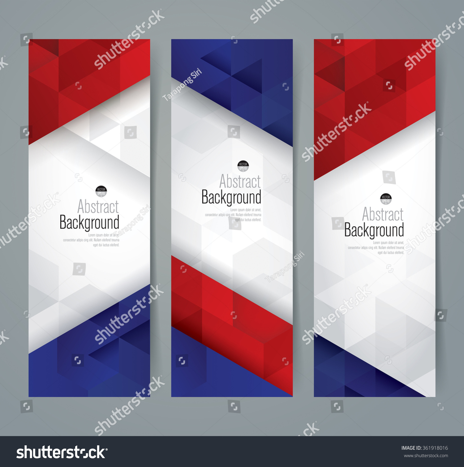 Design France Collection Banner Design France Flag Colors Stock Vector