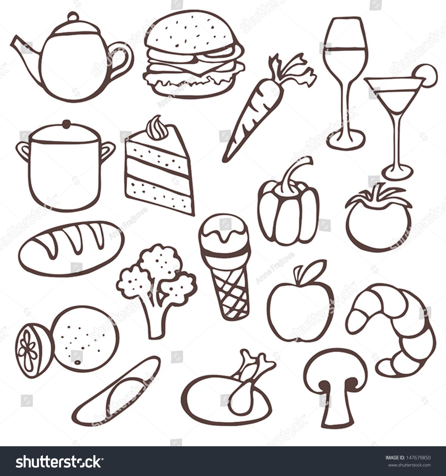 Kitchen tools drawing -  Kitchen Tools Drawings Download