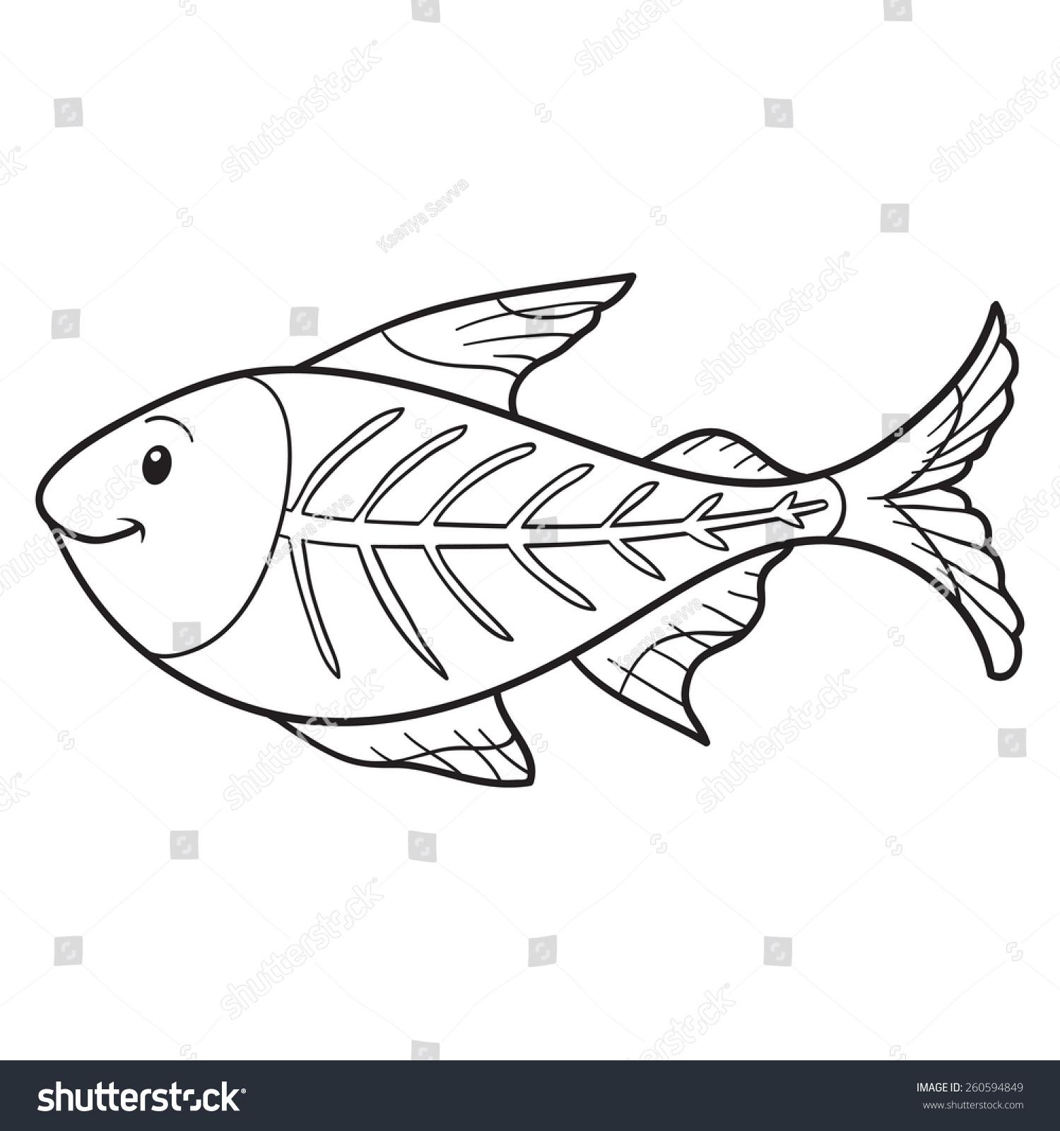 X ray printable coloring pages - X Ray Printable Coloring Pages Printable X Ray Coloring Pages Coloring Book Xray Fish Stock