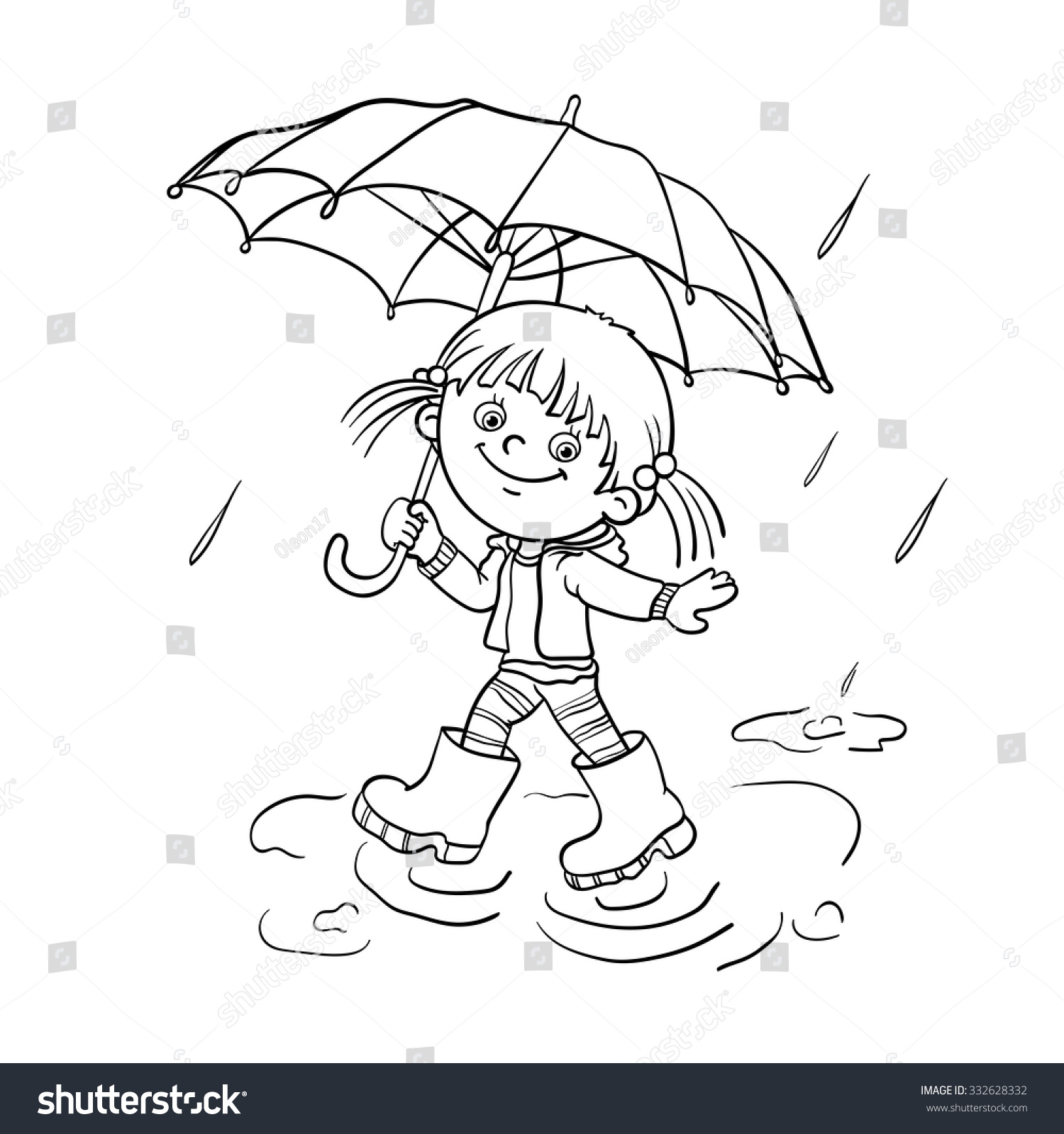 Coloring pages rainy day