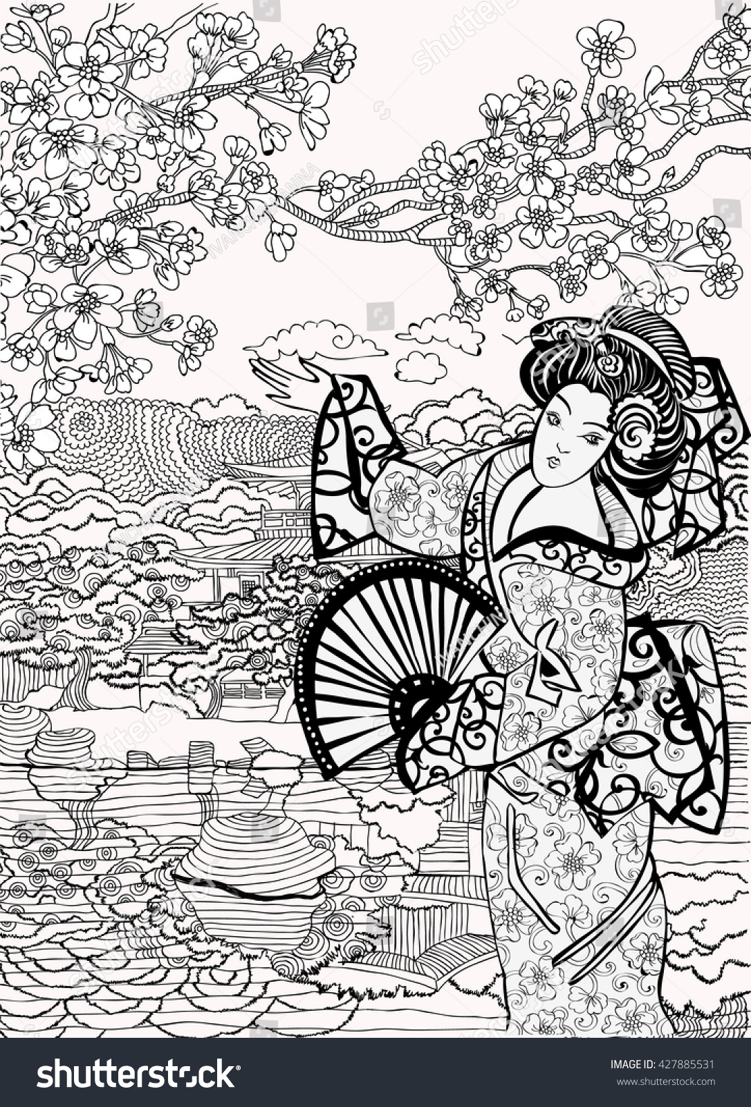 free coloring pages japan