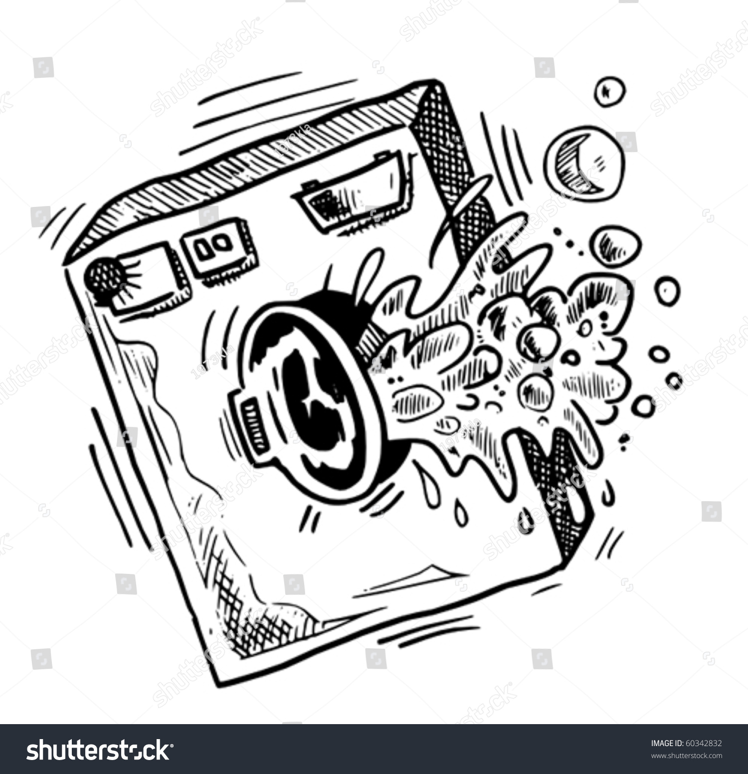 Waschmaschine Kaputt Comic Style Washing Machine Sketch Stock Vector Royalty Free