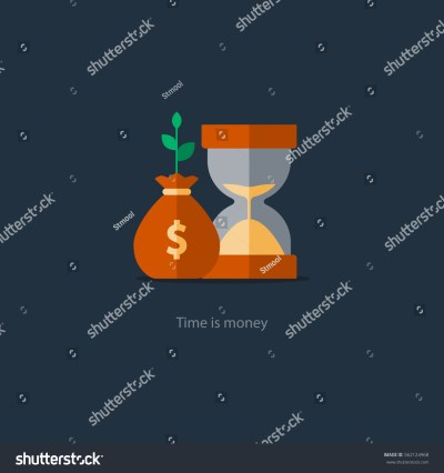 Compound Interest Time Money Financial Investments Stock Vector 562124968 - Shutterstock