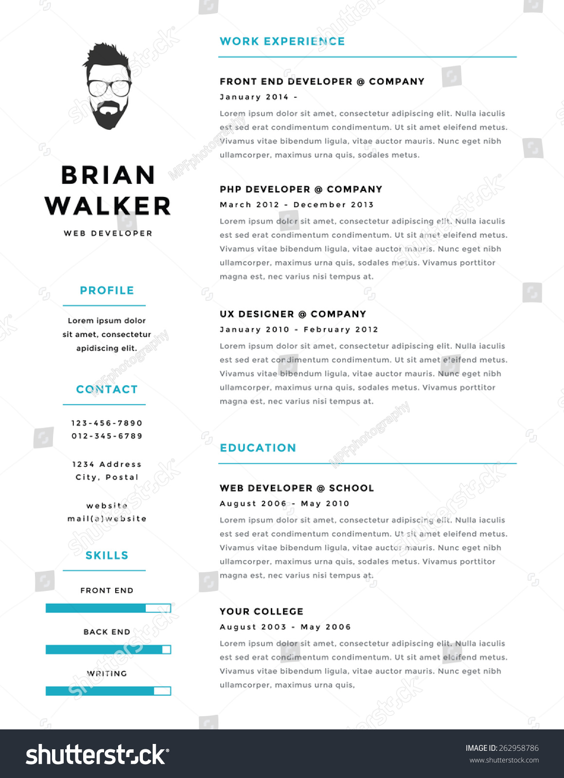 resume layout seek best online resume builder resume layout seek 52 modern resume templates in word o hloom creative mini stic personal vector resume