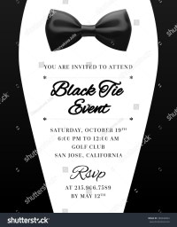 Elegant Vector Black Tie Event Invitation Stock Vector