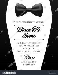 Elegant Vector Black Tie Event Invitation Stock Vector