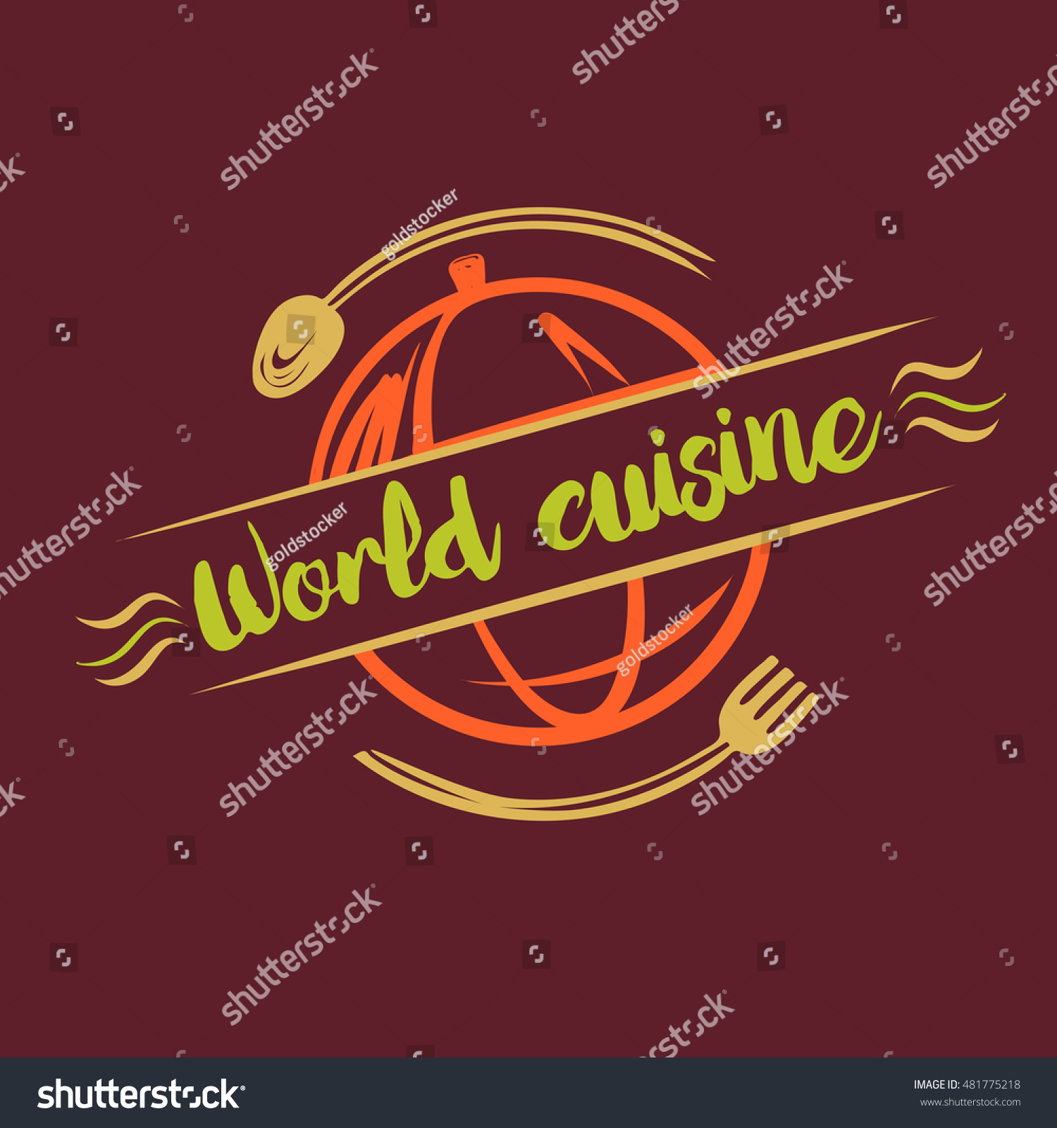 Poster Cuisine Element Design Vector Logo Logotype Poster Stock Vector Royalty