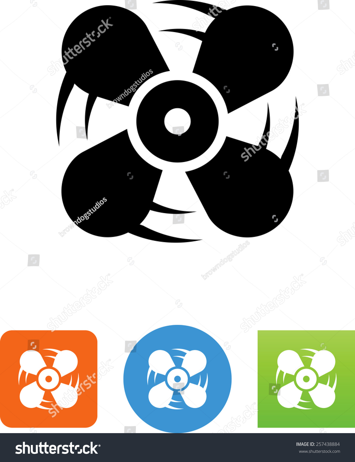 Symbool Ventilator Fan Symbol For Download Vector Icons For Video Mobile