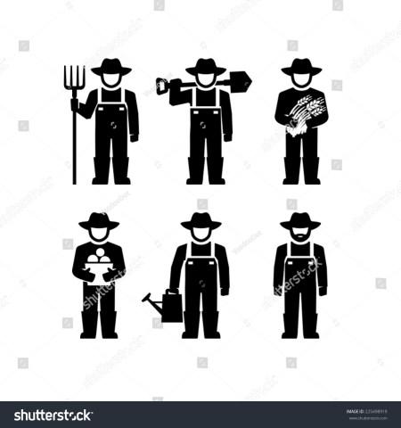 Farmer Black And White