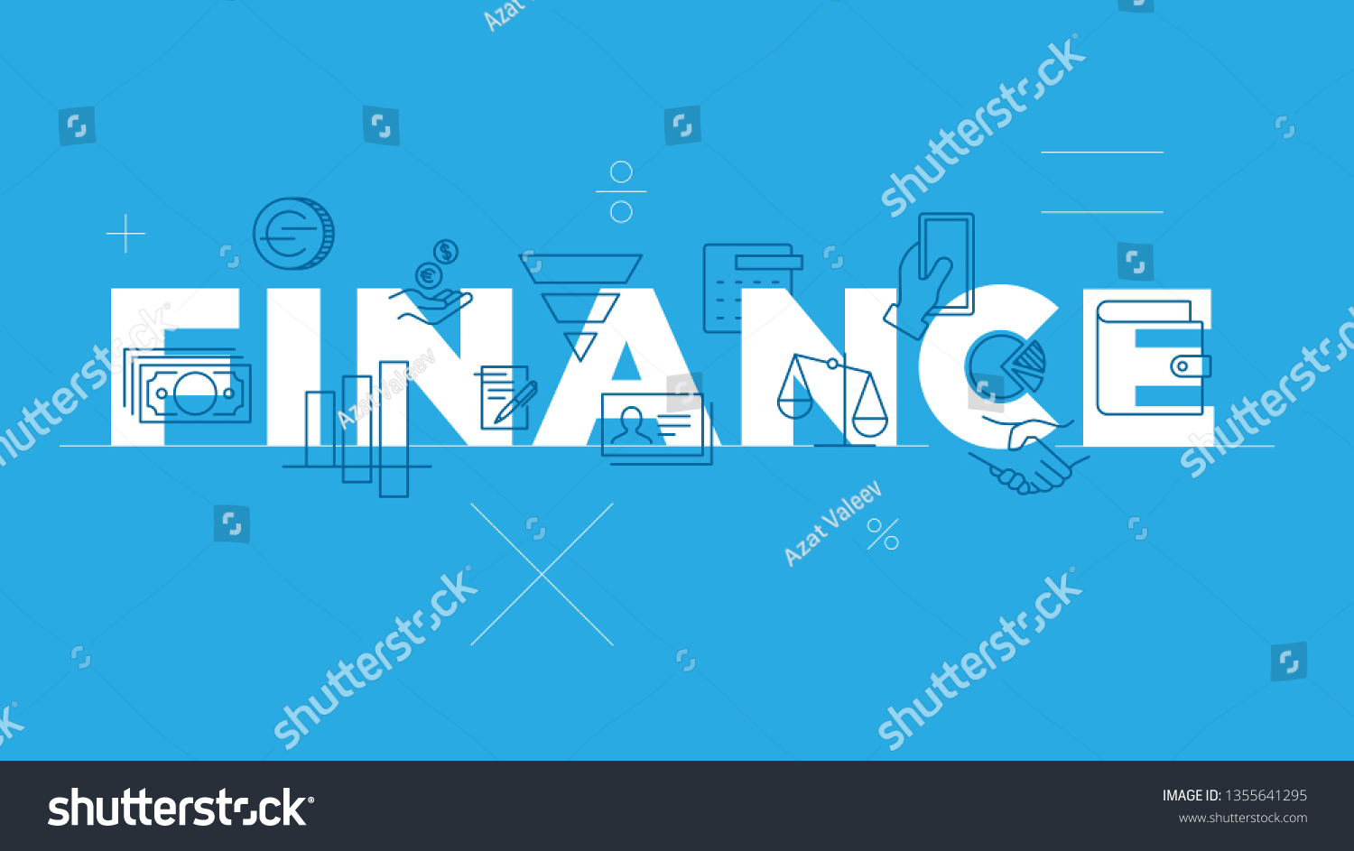 Möbel Modern Design Finance Word Concept Thin Line Icon Stock Vector Royalty Free