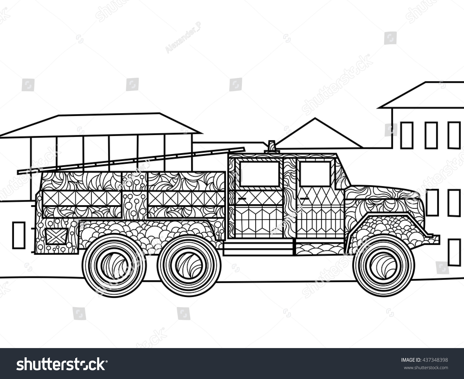 Garbage truck coloring book pages -  Coloring Page Garbage Trucks Free Download