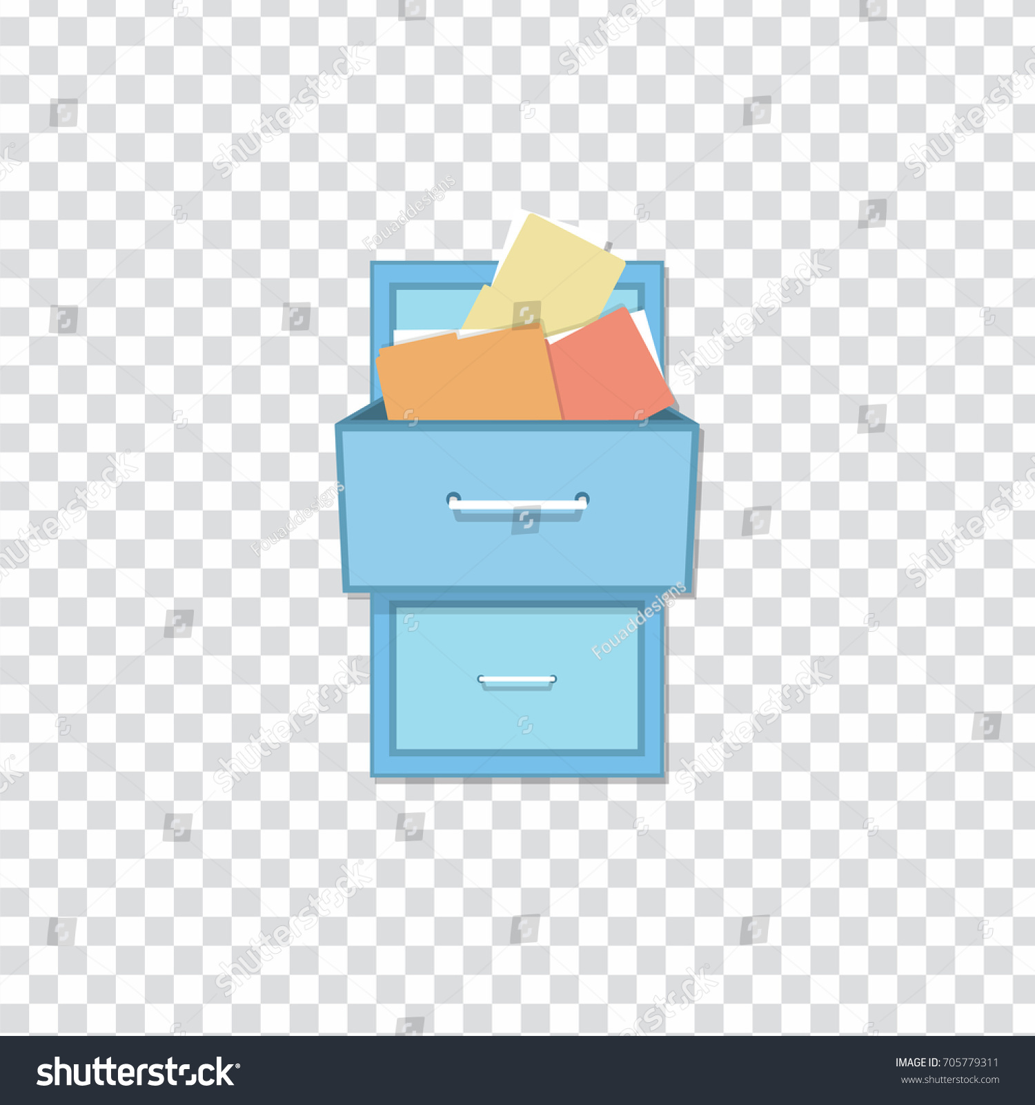 Filing Cabinet Icon Flat Flat Vector Icon Illustration Filling Cabinet Stock Vector
