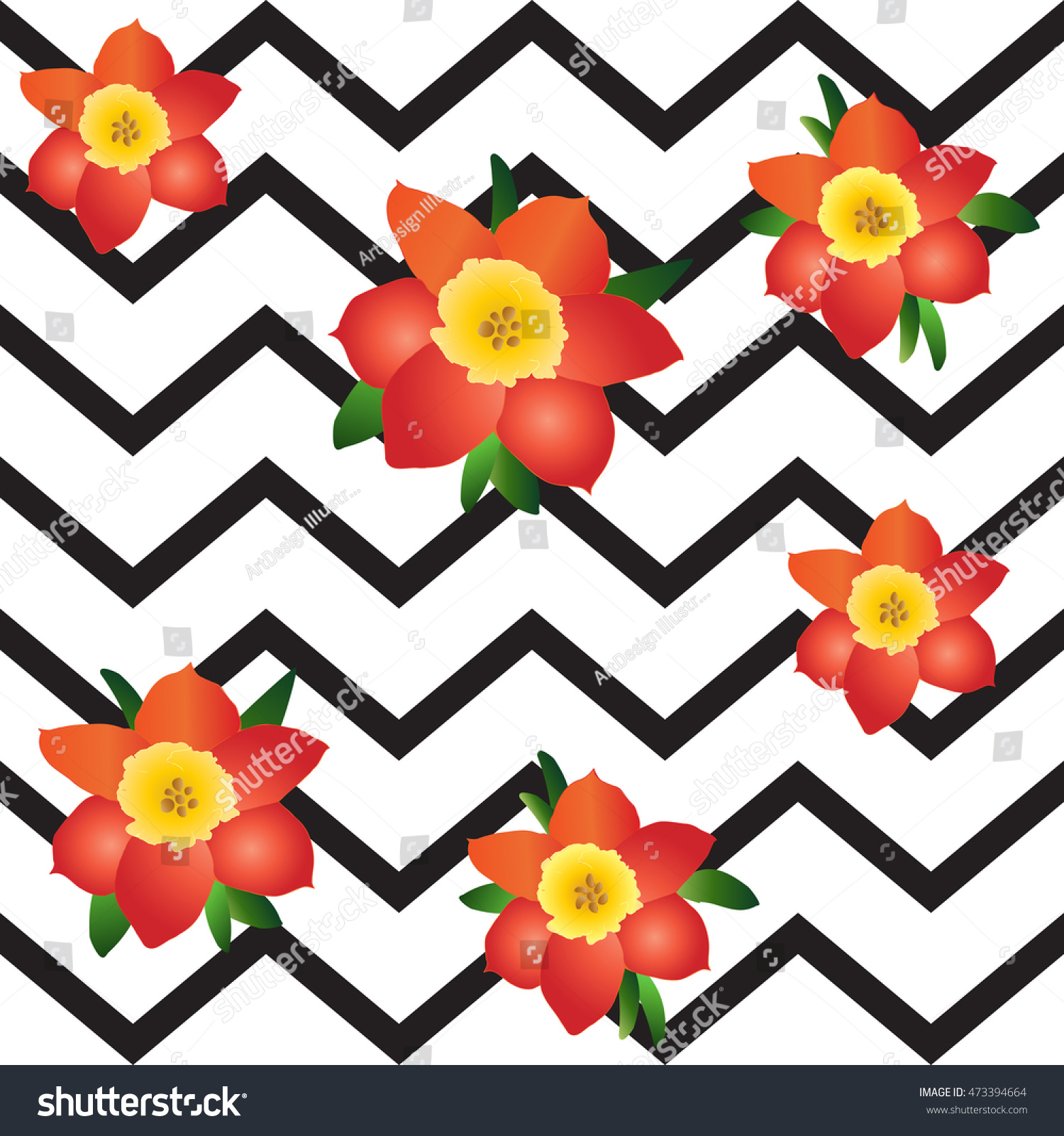 Arte Floral Vetor Floral Abstract Background Vector Illustration Flowers Stock