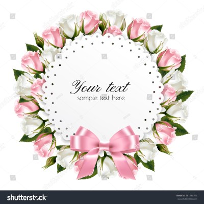 Flower Background Made Out Pink White Stock Vector 381436162 - Shutterstock